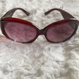 COACH burgundy sunglasses